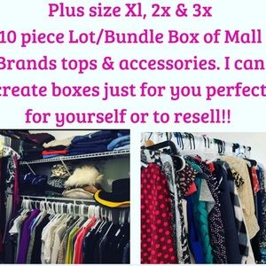 Mystery box plus size tops mall brands